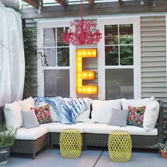 "Rustic 36"" Letter E Marquee Light from The Rusty Marquee"