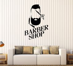 Vinyl Wall Decal Barber Shop Man Hairdresser Hair Salon Stylist Stickers (463ig)