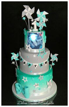 Cake étoiles moulins à vent