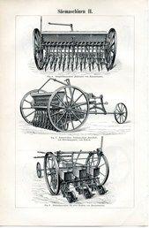 """farming equipment II german 1894 lithograph 6 x 9"""" $25"""