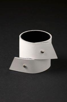 Aumorfia | ZZ | contemporary black leather cuff