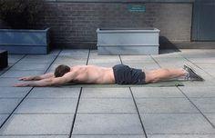 Superman Back Exercise