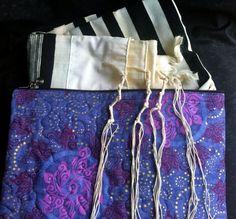 Tallit Bag Purple Mariposa Butterflies by RebeccaParmetDesigns on Etsy