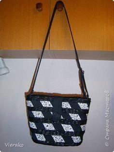 Гардероб Плетение Шитьё Моя первая сумка - My first handbag Бумага газетная Трубочки бумажные фото 2