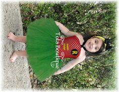 Robin Inspired tutu dressBatman by TotsBoutique on Etsy, $35.00
