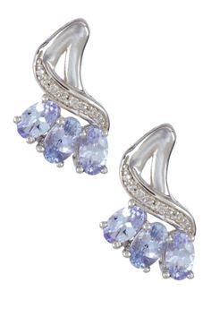 Savvy Cie Diamond & Purple Tanzanite Drop Earrings on HauteLook
