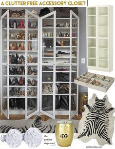 Weekend decorating idea: A clutter free accessory closet — The Decorista