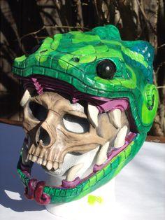 Painted cast resin Snake Skull Mask. by RavenKingRelics on Etsy Helmet  Armor ebb6dd610a562