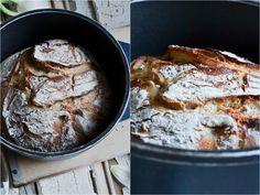 Brot, No knead Bread, Topfbrot, einfach, selbermachen, backen, oim Topf, ohne lecreuset, ohne Schmortopf, ganz normaler topf, weizenbrot,ohne sauerteig, nur mit hefe,