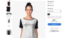 'Adventures' Chiffon Top by G. Queen Annes Lace, Iphone Case Covers, Chiffon Tops, Tank Man, Classic T Shirts, Fashion Outfits, Adventure, Mens Tops, Clothes
