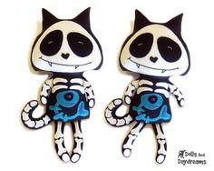Skeleton Cat Sewing Pattern