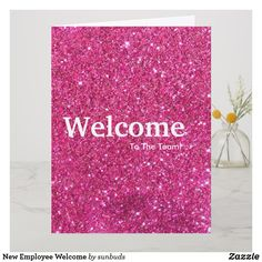 Shop New Employee Welcome Card created by sunbuds. Personalize it with photos & text or purchase as is! Welcome To The Team, Welcome Card, Create Your Own, Create Yourself, New Employee, New Year Card, Custom Greeting Cards, Thoughtful Gifts, Recycling