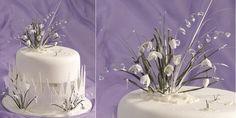 gumpaste snowdrops cake via Culpitt