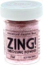 American Crafts Zing! PINK Glitter Embossing Powder