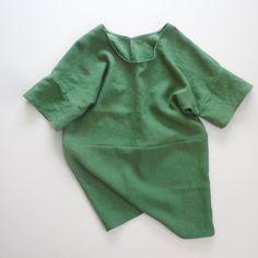 front seam linen dress