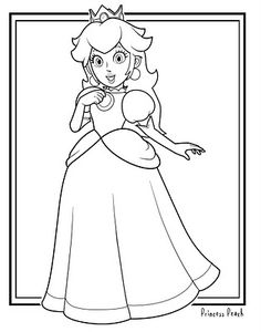 Printable Super Mario Princess Toadstool Coloring Pages