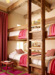 Girls Bunk Room. Great Rustic Bunk Room. #Bunk #Room