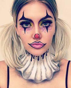 Girl Halloween Makeup, Halloween Circus, Halloween Inspo, Halloween Make Up, Horror Makeup, Scary Makeup, Clown Makeup, Pantomime, Sexy Clown Costume