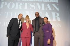 Beyonce Knowles Photos Photos - Jay-Z, Beyonce, 2012 Sportsman of the Year LeBron James, and Savannah Brinson attend the 2012 Sports Illustrated Sportsman of the Year award presentation at Espace on December 5, 2012 in New York City. - 2012 Sports Illustrated Sportsman Of The Year Award Presentation - Inside
