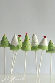 CakePops | ChristmasTrees