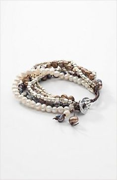 multistrand freshwater pearl bracelet | jjill