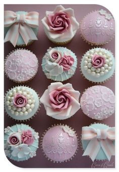 Wedding cupcakes - For all your Wedding cake decorating supplies, please visit http://www.craftcompany.co.uk/occasions/weddings.html