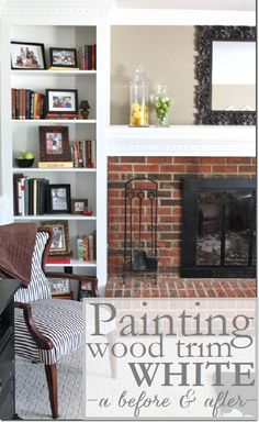From Brown to Bright: A Story of Painted Trim (painting dark wood trim white)
