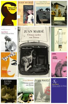 """La novel·la """"Últimas tardes con Teresa"""" de Juan Marsé, durant aquests 50 anys ha tingut molt cares, diverses editorials; Seix Barral, Lumen, Debolsillo, Plaza & Janes... l'han editat donant a cada coberta la seva particular visió. Us oferim una representació de les cobertes més representatives."""