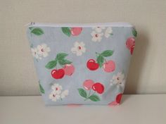 Make Up Bag  Cath Kidston Cherry Blue  by HomeChicHomeGifts