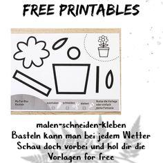 """My Fun Box on Instagram: """"🖨Free Printables🖨 Malen-schneiden- kleben🖍 basteln geht bei jedem Wetter🌈🥰👍🏻 link in Bio👀"""" Box, Free Printables, Instagram, Link, Basteln, Weather, Templates, Snare Drum, Free Printable"""