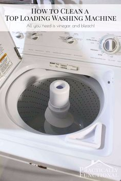 """* Think I'll only use the vinegar step, but these are great instructions. """"How to clean your washing machine - step by step instructions using vinegar and bleach to clean grunge, soap scum, and mineral deposits in the drum and in the pipes and hoses! Deep Cleaning Tips, House Cleaning Tips, Cleaning Solutions, Spring Cleaning, Cleaning Hacks, Cleaning Products, Cleaning Recipes, Cleaning Supplies, Cleaning Caddy"""