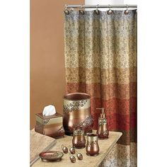 Miramar bath accessories from Kohls. Perfect colors to go with the iyoani paintings. Check kohls often for basket, curtain, curtain rings n lotion pumps