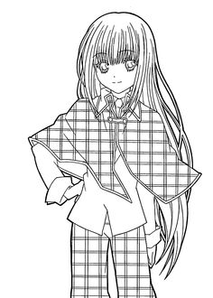 hotaru from shugo chara anime coloring pages for kids, printable ... - Anime Girl Coloring Pages Print