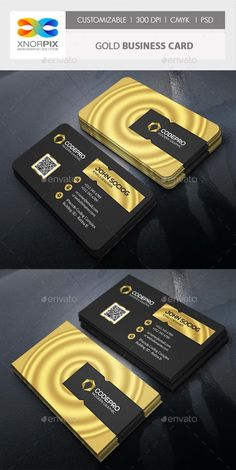 Gold Business Card, Luxury Business Cards, Unique Business Cards, Corporate Business, Professional Business Cards, Business Card Design, Graphic Design Brochure, Visiting Card Design, Name Card Design