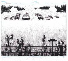 Walking Dead 42 Pages 20 & 21 Original Interior by Charlie Adlard Comic Art