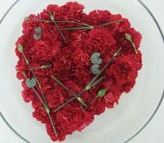 #Nelken #Herz #flach Carnation heart