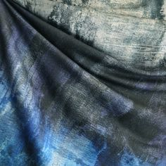 French Terry Distressed Print Blues
