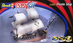 Sailboat Pirate Model Ship - perfect for kids or beginners!