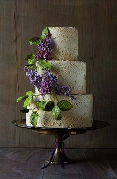 Vintage Lace Work Wedding Cake | Cakes & Scroll Work, Cakes with Flowers, Elegant Cakes, Wedding Cakes | Beautiful Cake Pictures                                                                                                                                                      More