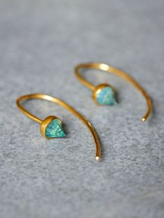 Ivy Threader Earrings | Edgy threader earrings with spiked gemstones.   *By Katie Diamond