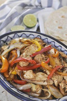 Chicken Fajitas - a family favorite dinner choice!