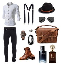 """Leonidas Valdez"" by lilianavdg ❤ liked on Polyvore featuring Alexander McQueen, Victorinox Swiss Army, EyeBuyDirect.com, Bailey of Hollywood, Albert Thurston, Cantini MC Firenze, N'Damus, John Lewis, Clive Christian and men's fashion"