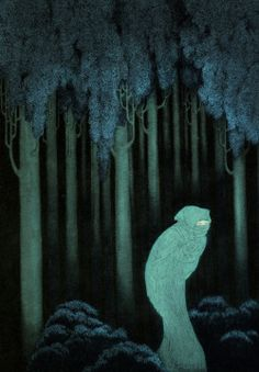 americaneldritch: Hish, by Sidney Sime. From Lord Dunsany's Gods of Pegana, 1905.