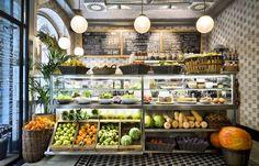 Teresa Carles - Vegetarian Cuisine since 1979 Cafe Restaurant, Restaurant Design, Vegetarian Friendly Restaurants, Vegetarian Food, Eat Better, Fruit Shop, Food Retail, Brunch, Cafe Design