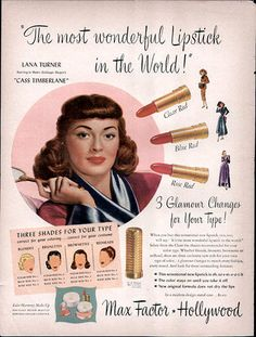 Lana Turner for Max Factor Cosmetics