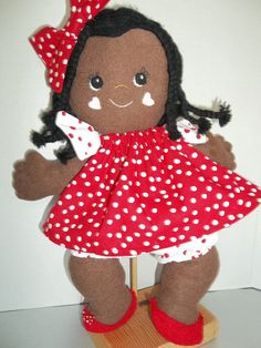A 15 inch bright-eyed sweetie soft stuffed doll with braids. Very fast and easy to make. This is a pattern ONLY and not a completed doll. This is a downloadable PDF that will be emailed to you within 1-2 days of receipt of payment. Be sure to check out her BFF Cutie Pie, her best friend, as shown in the picture.