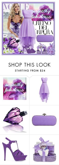 """Purple Vogue....."" by meetzz ❤ liked on Polyvore featuring Whiteley, Oliver Gal Artist Co., Diesel, Bottega Veneta, Yves Saint Laurent, contest and purple"