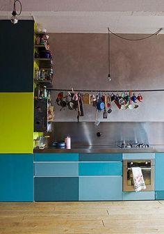 Colourful and fun kitchen #kitchen #inspiration #decor #interior #design #inspiring #home #house