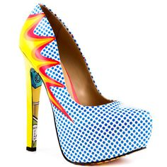 BONUS SHOE: Comic book platform heel!