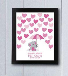 Elefante con paraguas Cuadro firmas nacimiento / pdf por RockNPrint